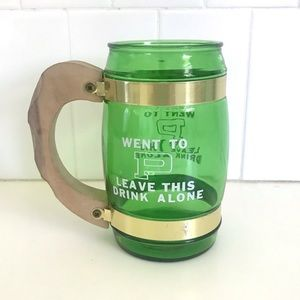 Vintage 70's Siesta Ware novelty beer mug cup